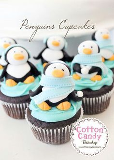 Cupcakes en pingouin