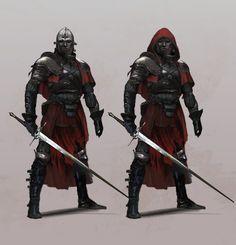 ArtStation – Character concepts, Antti Hakosaari – My CMS Fantasy Armor, Dark Fantasy Art, Medieval Fantasy, Fantasy Character Design, Character Concept, Character Art, Dnd Characters, Fantasy Characters, Fantasy Inspiration