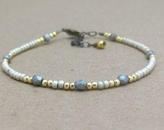 Turquoise Pearl Friendship Bracelet Petite by MissCecesJewels