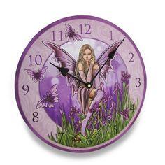 Lisa Parker Purple Iris Fairy Round Wall Clock Things2Die4 http://www.amazon.com/dp/B00KMD90KG/ref=cm_sw_r_pi_dp_p1ePub0X0XNET
