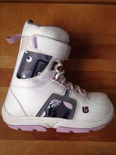 Burton Snowboarding Boots Kids Child Sz 5 White Lilac Winter Snow Shoe Freestyle | eBay