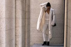WINTER WHITES | vis-ion-aire  This January, we'll explore the (not-so) taboo of wearing winter whites!