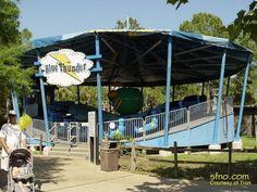 Blue Thunder ride at at Miracle Strip Amusement Park, Panama City Beach, Florida