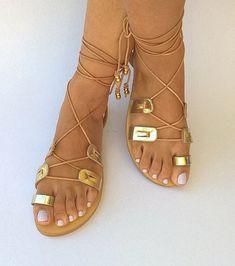 Leather Wrap Sandals From Chic Belle De Jour
