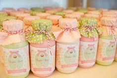 Sugestão garrafinhas iogurte (nas cores da festa)