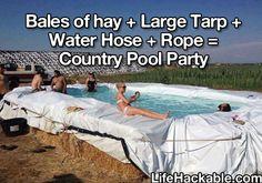 Redneck pool!