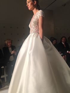 A stunning bodice on this @reemacra | Brides.com