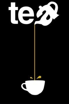 Tea - Pouring from such a great height is only for the most reckless of tea drinkers. Or for those with plastic topped table cloths. So la da di da di we like to tea party ❤️☕⏰ Graphisches Design, Logo Design, Design Ideas, Typographie Logo, Logos, Plakat Design, Tea Quotes, Tea Lover Quotes, Poster S