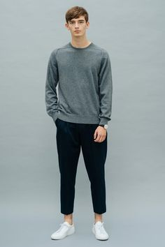 Uta Cashmere Pullover Smog Grey Front View Luxury Lifestyle, Cashmere, Women Wear, Product Launch, Normcore, Pullover, Grey, Cotton, Collection