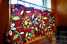 i should be mopping the floor: Quick & Easy, No-Sew Cafe Curtains
