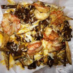 Loaded steak & shrimp fries...