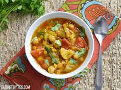 Warm intoxicating spices make this vegetable filled Moroccan Lentil and Vegetable Stew perfect for cold Autumn nights. Step by step photos.