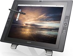 The second-generation Cintiq 21UX interactive pen display. Photo provided by Wacom Co. Ltd. Click for a bigger picture!