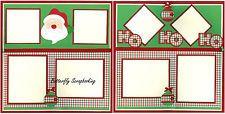 Christmas Santa HO HO HO 2 Page 12X12 Page Layout Scrapbook Kit LIMITED New