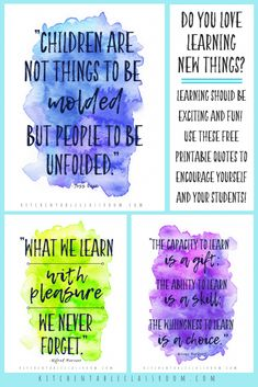 Quotes about Learning for Your Home & Classroom - The Kitchen Table Classroom