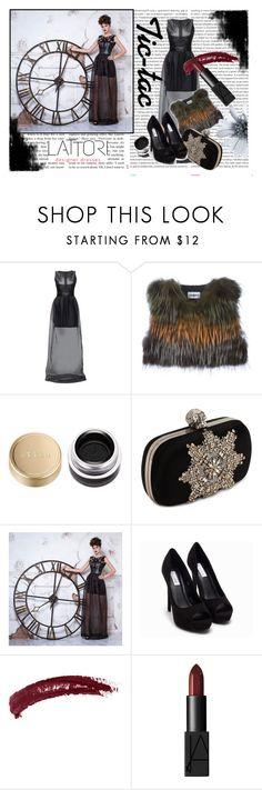 #Lattori by hacii on Polyvore featuring moda, Lattori, Cacharel, Nly Shoes, Alexander McQueen, NARS Cosmetics, Topshop, Stila, Oris and black
