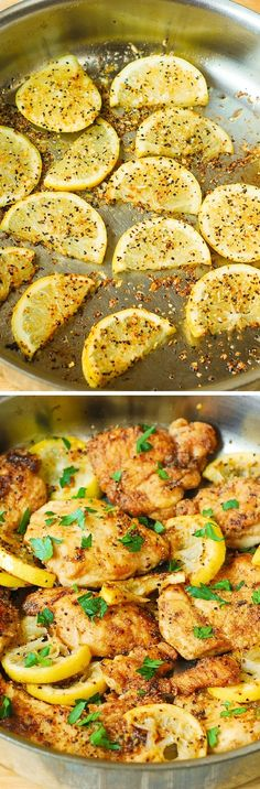 Lemon Chicken Skillet - quick and easy 30-minute recipe. Healthy and gluten free!​