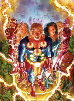 The Eternals: The Complete Saga Omnibus HC. Marvel Comics, Marvel Comic Universe, Ms Marvel, Comics Universe, Captain Marvel, Geeks, Fantasy Comics, Alex Ross, The Secret History
