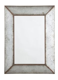 Galvanized metal highlights the industrial beauty of the O Tallay Accent Wall Mirror - x in. This rectangular mirror features weathered. Rustic Farmhouse Furniture, Vintage Industrial Furniture, Modern Farmhouse, Italian Farmhouse, Metal Mirror, Wall Mounted Mirror, Mirror Mirror, Industrial Mirrors, Industrial Design