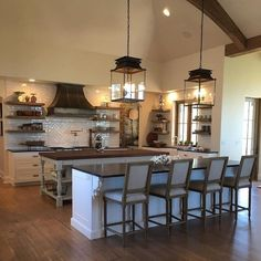 36 best kitchen design and remodeling ideas 14 Rustic Country Kitchens, Modern Farmhouse Kitchens, Rustic Kitchen, New Kitchen, Home Kitchens, Kitchen Decor, Kitchen Ideas, Kitchen Island, Primitive Kitchen