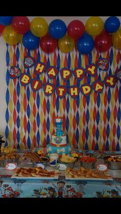 Super Birthday Cake For Boys Paw Patrol Ideas Paw Patrol Birthday Decorations, Paw Patrol Birthday Theme, 2nd Birthday Party Themes, 1st Boy Birthday, Birthday Wall, Cake Birthday, Birthday Ideas, Birthday Streamers, Paw Patrol Cake