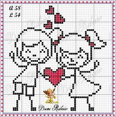 This Pin was discovered by Mih Kawaii Cross Stitch, Small Cross Stitch, Cross Stitch Heart, Cross Stitching, Cross Stitch Embroidery, Cross Stitch Patterns, Cross Love, Stitch Doll, Cross Stitch Freebies