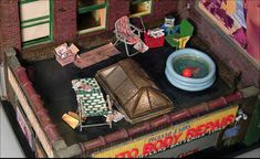 """BROOKLYN ROOFTOP"" (2005) 8 3/4 x 14 1/2 x 13 1/2 inches - ALAN WOLFSON"