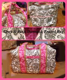 I love these travel bags. They can be made in a day or two! So roomy and the pattern is forgiving should you make a mistake. Used my simplicity pattern.
