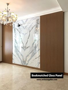 Marble Printed WPC is the abbreviations of Wood Plastic Composite. WPC board is a mixture of reclaimed wood, recycle plastic and a small amount of adhesive. Now it becomes an ideal building material for residential and commercial use. Feature Wall Design, Wall Panel Design, Tv Wall Design, Tv Wall Panel, Home Room Design, Home Interior Design, House Design, Interior Office, Tv Wanddekor