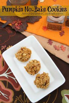 Pumpkin No-Bake Cookies from Jen's Favorite Cookies