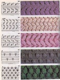 szalony szydełka dziania If you can read international crochet charts, you can add these warm textured stitches to your crochet repertoire. Free Crochet Stitches from Daisy Farm Crafts This Pin was discovered by Мар Image gallery – Page 786300416169 Crochet Symbols, Crochet Stitches Patterns, Knitting Stitches, Stitch Patterns, Knitting Patterns, Knitting Charts, Crochet Diagram, Crochet Chart, Crochet Motif