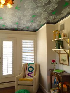 """Boys nursery with Hygge and West wallpaper and pops of green. Look around what do you see...all these things that start with """"B""""!"""