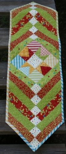 Holly Jolly Funtabulous Quick Tablerunner designed by TK Harrison from BOMquilts.com