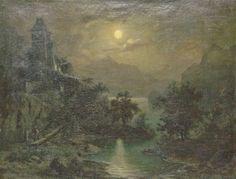 Carl Gustav Carus, (Zugeschrieben) Seelandschaft im Mondschein