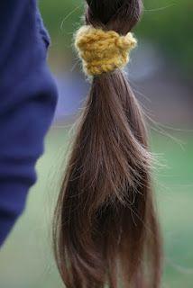 Make hair ties & headbands more fun! Simple crochet instructions.