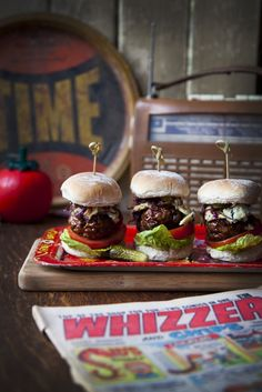 Blue Cheese Sliders with Caramelised Onions... | DonalSkehan.com