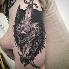 So happy to do this rad tattoo on my ichiban babe @joelisrich