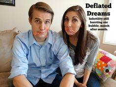 """Foto realidade: """"Sonhos furados. A infertilidade continua estourando nossa bola, mês após mês."""""""