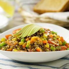 Ensalada Caliente de Lentejas Side Dish Recipes, Side Dishes, Salad Recipes, Vegan Recipes, Warm Salad, Lentil Salad, Food Hacks, Food Tips, Food Ideas