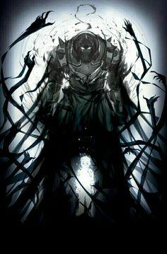Alphonse Elric, sad, spirit, ghost, darkness; Fullmetal Alchemist