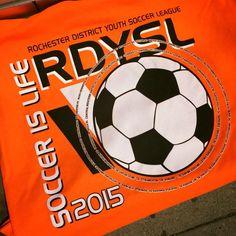 The 2015 RDYSL t-shirt design. #design #custom #graphicdesign #embroidery #screenprinting #tshirt #apparel #soccer