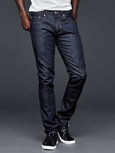 1969 skinny fit jeans (resin rinse wash) - An updated fit with just-right stretch - Gap Stylish Jeans For Men, Skinny Fit Jeans, Slim Man, Denim Fashion, Resin, Menswear, Style Inspiration, Fitness, Gap