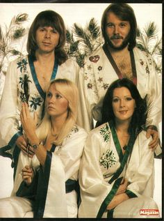 ABBA was a Swedish pop group formed in Stockholm in comprising Agnetha Fältskog, Björn Ulvaeus, Benny Andersson, and Anni-Frid Lyngstad. Sound Of Music, Kinds Of Music, Music Music, Music Bands, Abba Mania, Jazz, Celebrities Then And Now, Mamma Mia, Popular Music