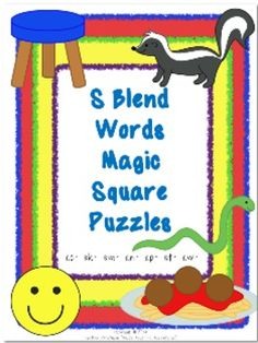 S Blend Words Magic Square Puzzles {$}