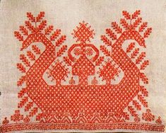 Traditional Russian Costume - sun chariot embroidery