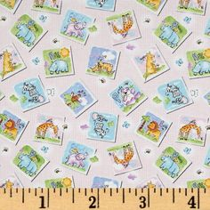 Gingham Safari Tossed Animal Patches Pink $8.98