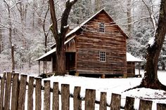 The Tipton Place in Winter, Cades Cove,  Great Smoky Mountains