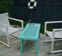 Custom Made Cribbage Table, Game Table, Cribbage Coffee Table