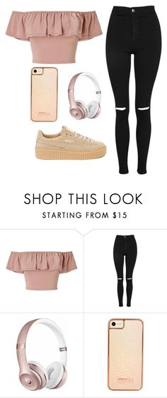 """""""@queen7901"""" by the5muslimqueens ❤ liked on Polyvore featuring Miss Selfridge, Topshop, Beats by Dr. Dre, Skinnydip and Puma"""