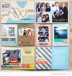 In A Creative Bubble has become one of my favorite scrappy blogs, and I love how many different sized photos she incorporated into this #ProjectLife spread.